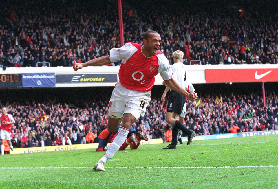 Henry is Arsenal's top scorer, who has also scored great goals